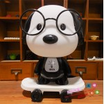 Puppy With Skateboard Night Table Lamp